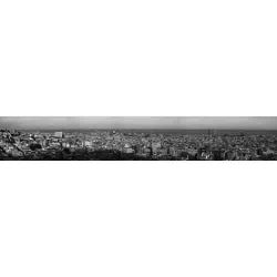 Barcelona Panoramic Photography, Black and White, skyline