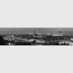 Florence, panoramic black and white