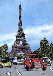 Jose Alcala, Citroen and Eiffel Tower, Paris