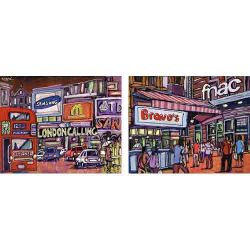 Jose Alcala, Diptych, Cities of Europe, London and Madrid