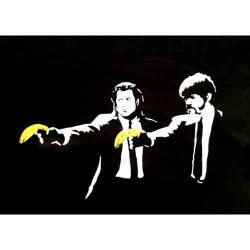 Banksy: Pulp fiction banana
