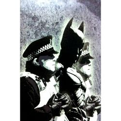 Banksy. Batman arrested