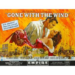 Giant Mural. Gone with the wind