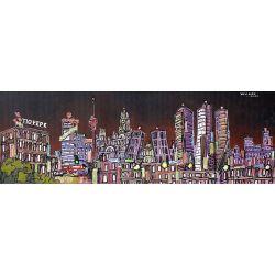 Lamina jose alcala panoramica nocturna madrid skyline - Laminas y posters madrid ...