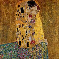 Lamina giant XXL Gustav Klimt, The Kiss
