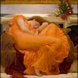 Lamina gigante XXL Leighton, Flaming June: PRERRAFAELITA