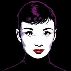 Antonio de Felipe, Audrey in Black Pop Art