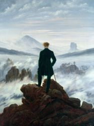 Cuadro Mural Gigante: FRIEDRICH, Wanderer Above the Sea of Fog