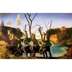 Dali, Swans Reflecting Elephants