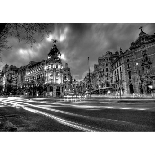 Alcala con gran via de noche madrid - Laminas y posters madrid ...