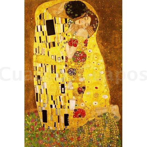 Gustav klimt el beso mural - Cuadros de besos ...