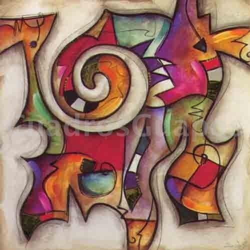 Eric waugh remolino 2 mural abstracto for Imagenes cuadros abstractos juveniles