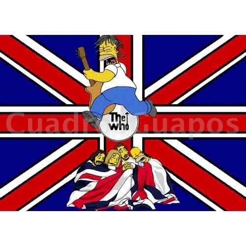 Homer y the who con bandera inglesa - Dibujo bandera inglesa ...