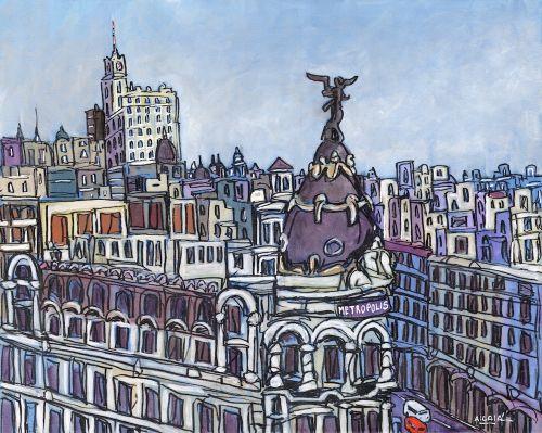 Lamina jose alcala edificio metropolis desde el aire - Laminas y posters madrid ...