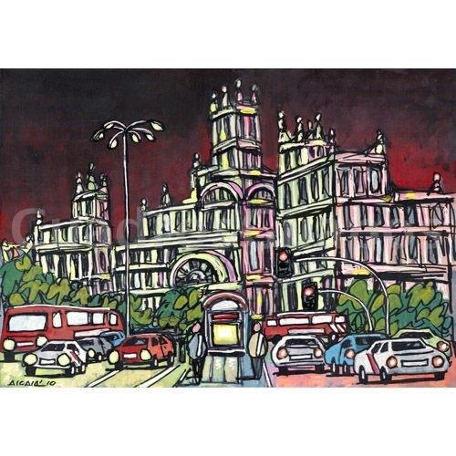 Lamina jose alcala palacio de correos madrid - Laminas y posters madrid ...