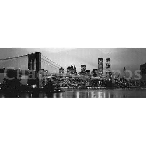 Lamina gigante XXL New York, skyline blanco y negro - CuadrosGuapos.com