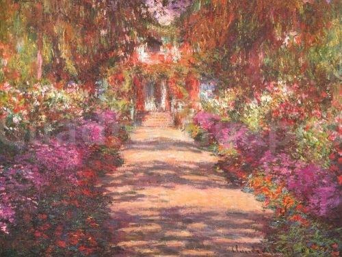 Monet jardin con flores - Fotos de cuadros de monet ...