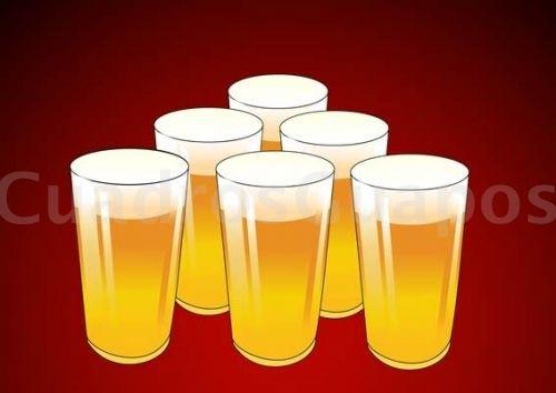 Vasos de cerveza dibujo barra de bar for Vasos para bar
