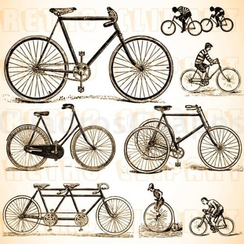 Collage de bicicletas retro for Imagenes retro vintage