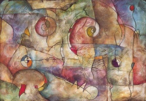 Eric Waugh, Prisma. Mural Abstracto - CuadrosGuapos.com