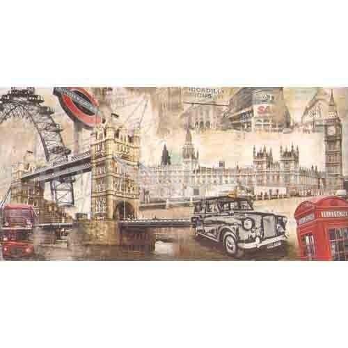 Londres Pintura London Collage - CuadrosGuapos.com