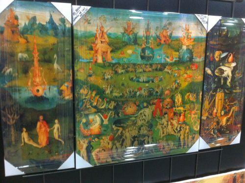 El bosco garden of earthly delights mural for El bosco el jardin de las delicias
