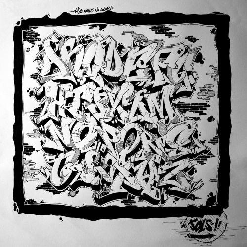 Abecedarios de graffitis 2014 - Imagui