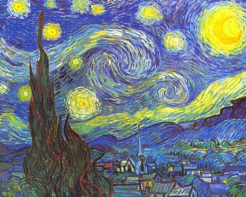 Lamina De Van Gogh La Noche Estrellada Campo Nocturno