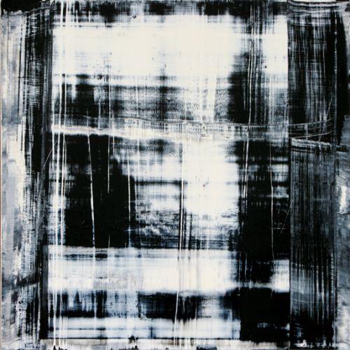 Cuadro abstracto moderno en blanco y negro sombras i - Cuadro blanco y negro ...