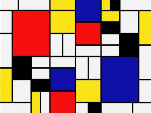 Piet Mondrian Coloring Pages