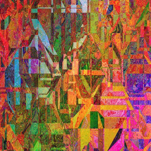 Cuadro abstracto moderno vidriera digital - Vidrieras modernas ...