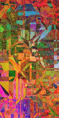 Cuadro abstracto moderno vidriera digital en friso - Vidrieras modernas ...