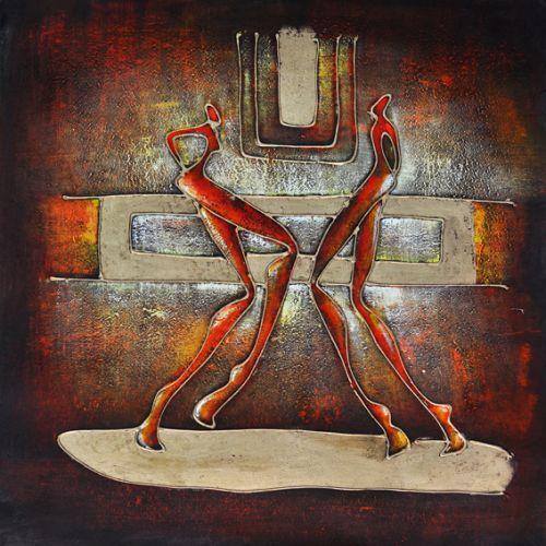Cuadro abstracto moderno baile en el bar - Cuadros para bares ...