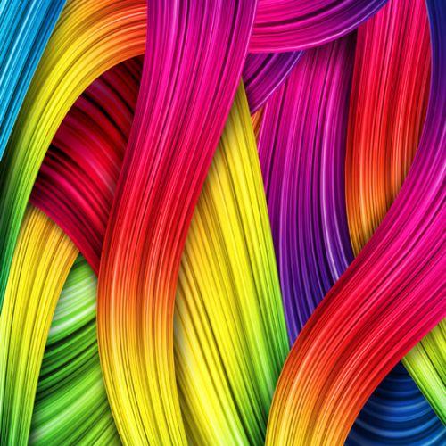 Cuadro abstracto moderno pinceladas de colores - Cuadros de colores ...