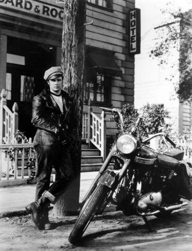 Cuadro De Marlon Brando El Salvaje Moto Triumph 1953