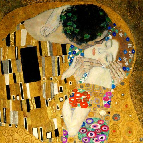 Cuadro mural de el beso de gustav klimt the kiss - Cuadros de besos ...
