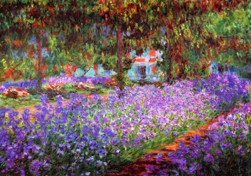 Cuadro de monet el jardin con flores en primavera Cuadros para el jardin