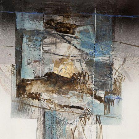 cuadro mural abstracto en tabla 100x100