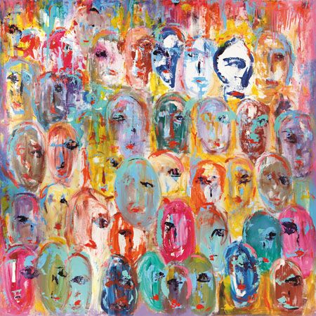 cuadro mural abstracto