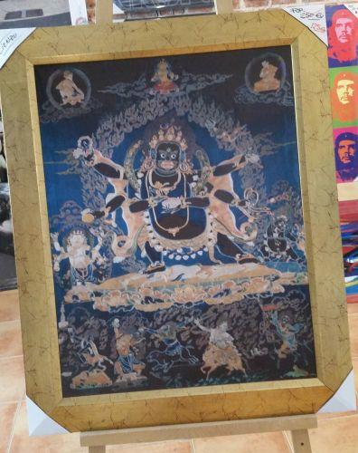 Cuadro enmarcado oriental de buda en tela 50 for Enmarcado de cuadros precios