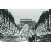 Paris, Champs Elysees and Arc de Triomphe
