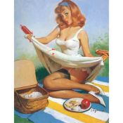 Gil Elvgren, Picnic, Pin Up
