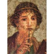 Sappho of Lesbos, Mural of Pompeii