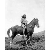 American Indian, Nez Perce Warrior on horseback