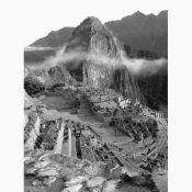 Machu Picchu, Peru - Black and White