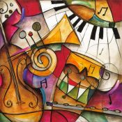 Eric Waugh, Jazz it up 1, Abstract Mural