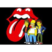 Homer Simpson and the Rolling Stones