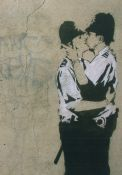 Banksy: Kiss cops