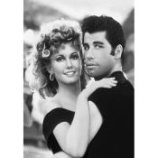 Grease. John Travolta and Olivia Newton John - Black and White