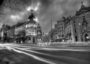 Lamina with Gran Via de Alcala Night, Madrid